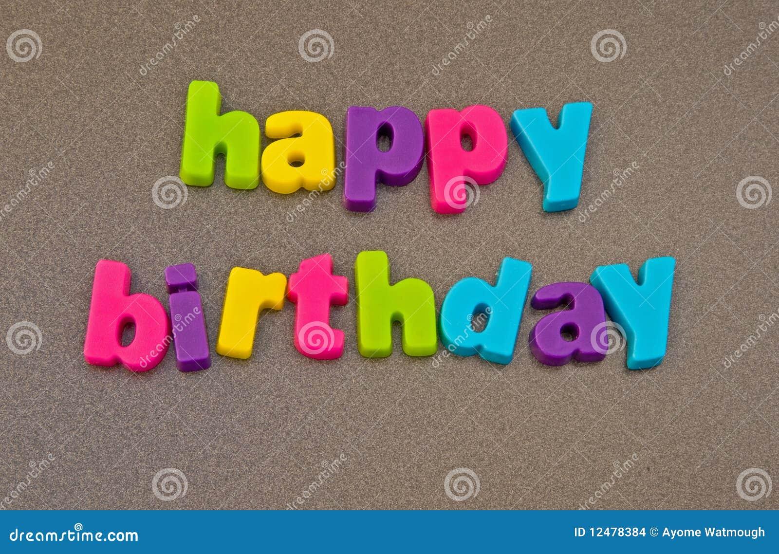 Alles Gute zum Geburtstagmeldung.