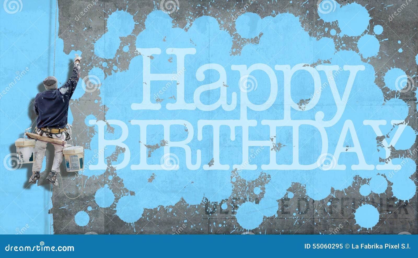 Alles- Gute zum Geburtstagwandblau