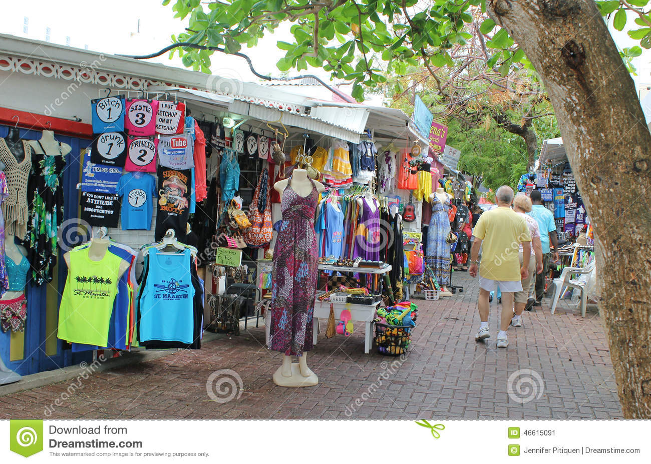 Alley Shopping at Philipsburg, St. Maarten, Virgin Islands Editorial ...