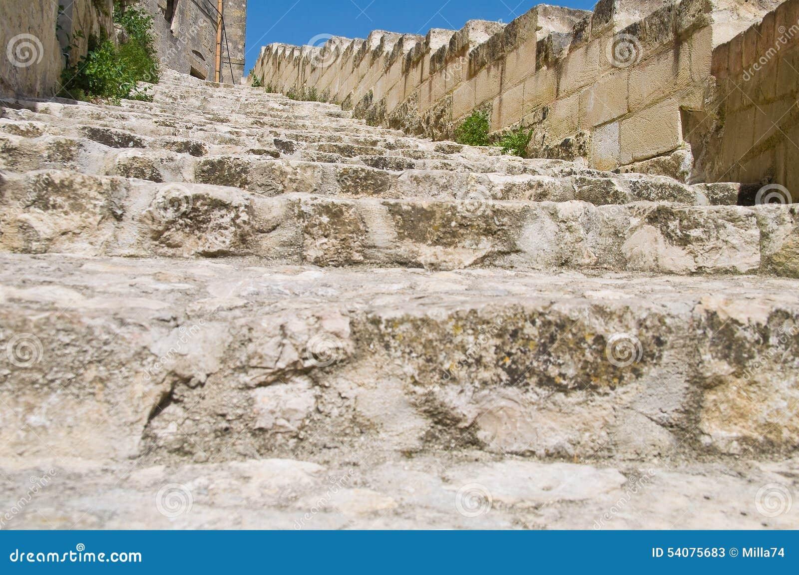 Alleyway Sassi van Matera Basilicata Italië