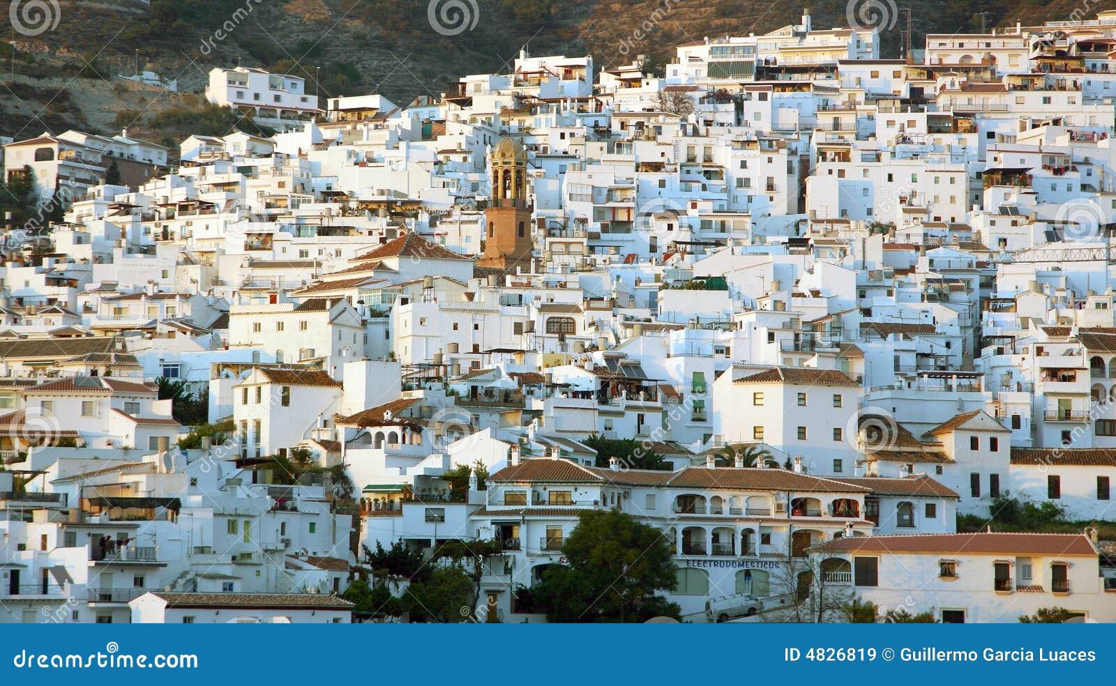 Allgemeine Ansicht einer Stadt in Andalusien, Spanien