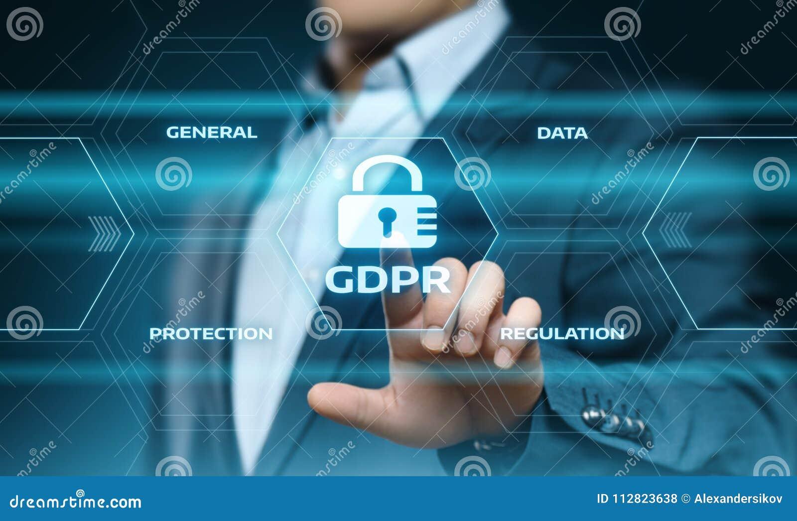 Allgemeine Daten-Schutz-vorgeschriebenes Geschäfts-Internet-Technologie-Konzept GDPR