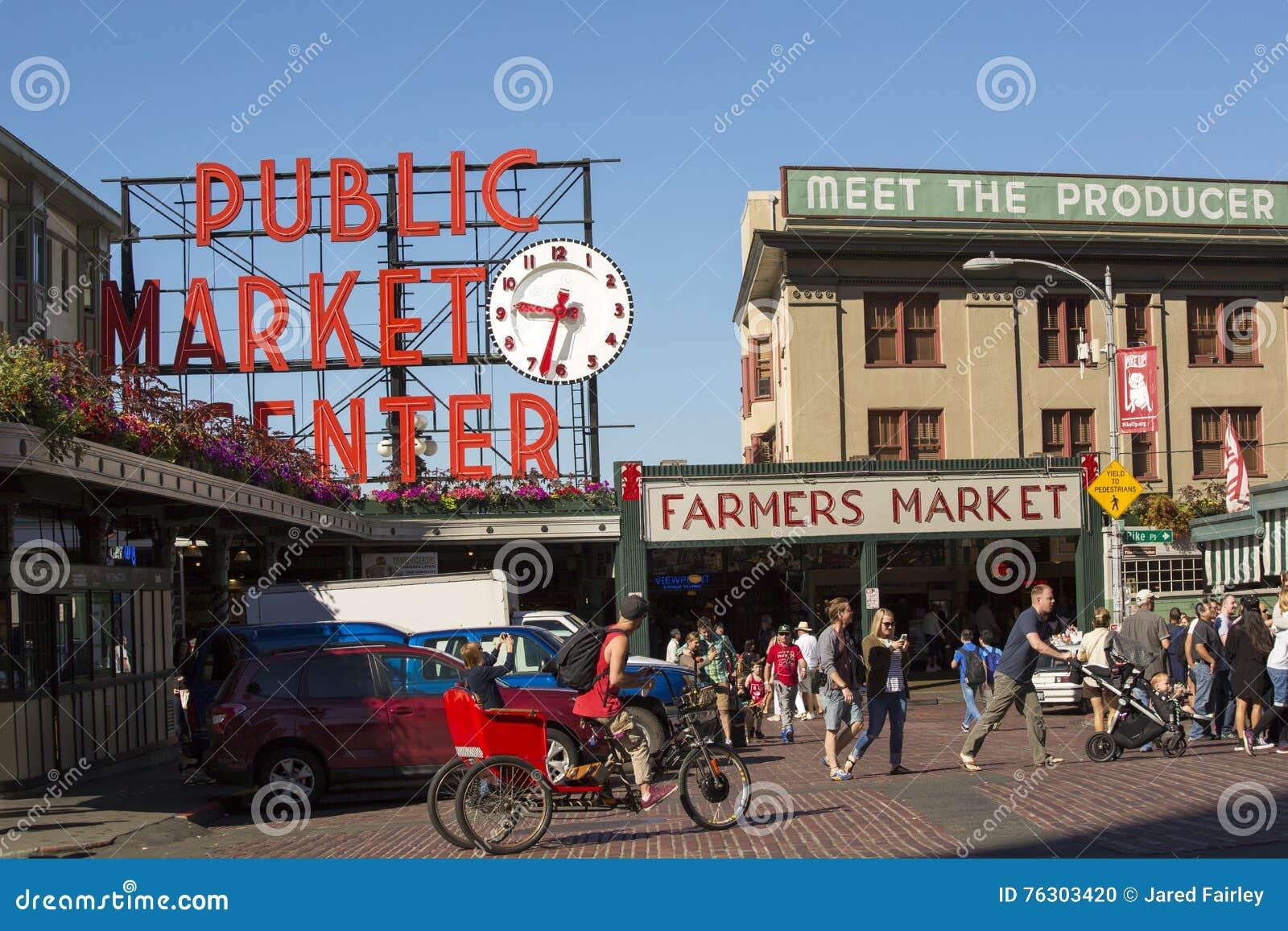 Allgemeiner Markt-Mitte an Pike-Platz