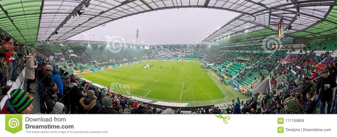 Allianz Stadion Panorama In Vienna Editorial Stock Photo Image Of Lighting Architecture 111105858