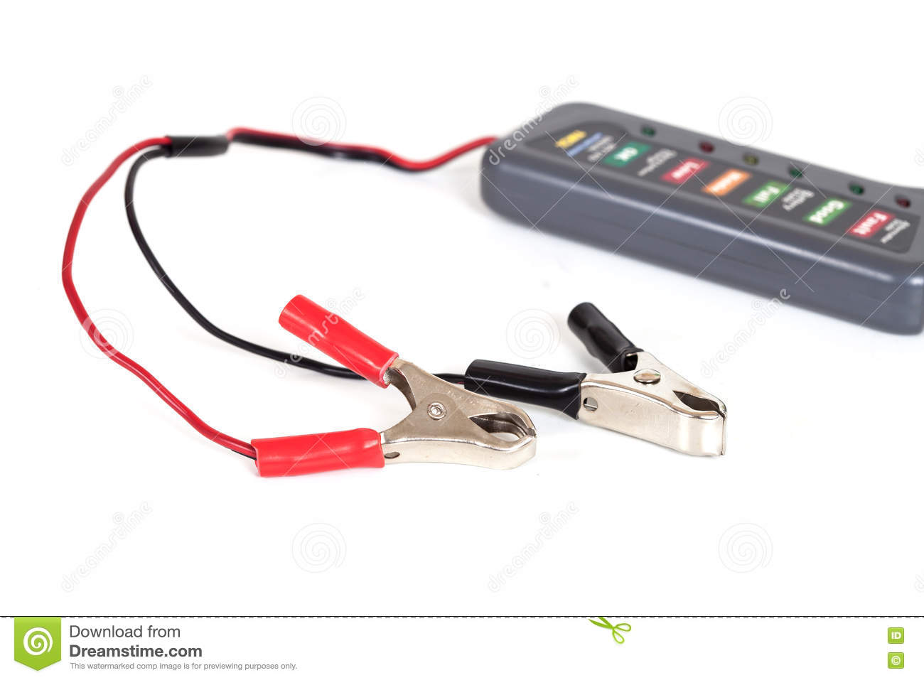 Alligator Clip Jumper Wires Stock Image - Image of cable, alligator ...