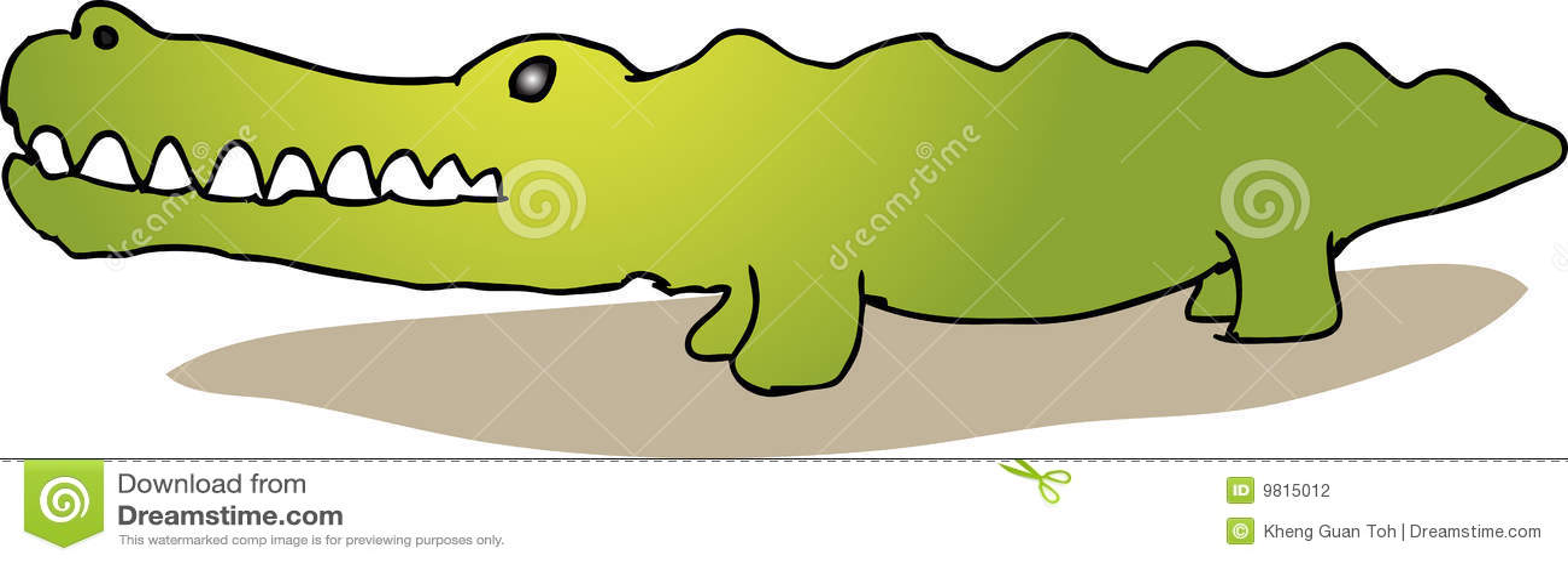 Alligator mignon de dessin anim photographie stock - Image crocodile dessin ...