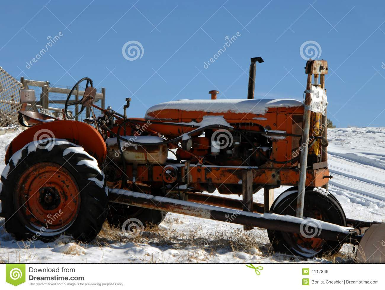Allis Chalmers Tractor in Snow