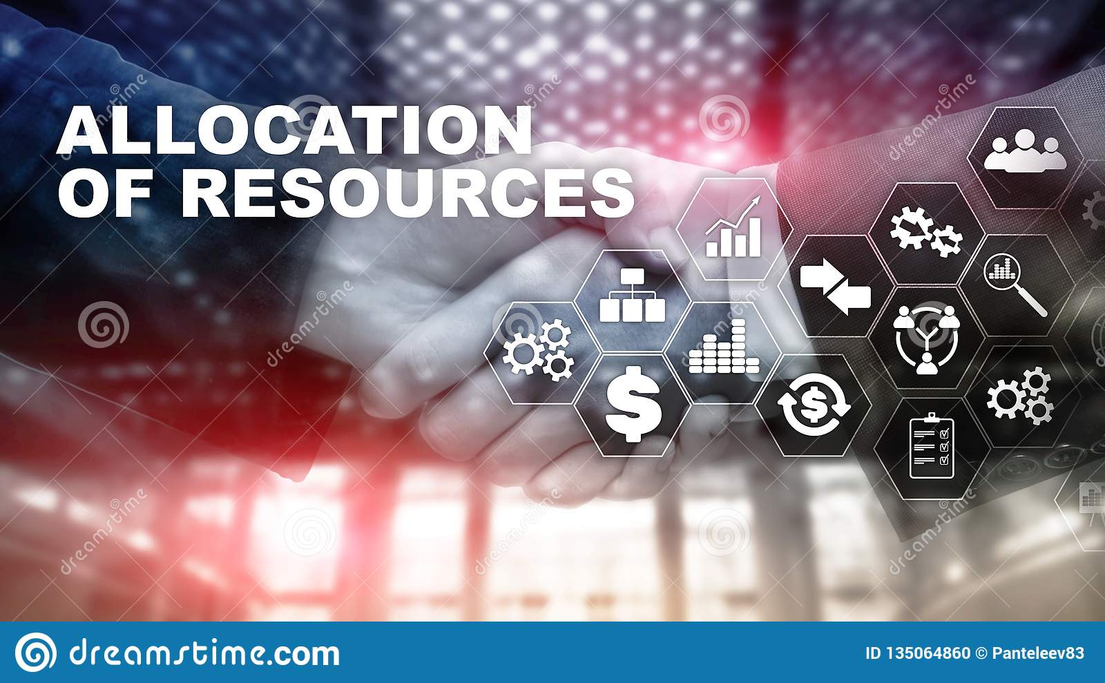 Allocation of resources concept. Strategic planning. Mixed media. Abstract business background. Financial technology and
