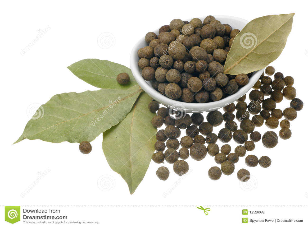 Allspice and bay leaves.