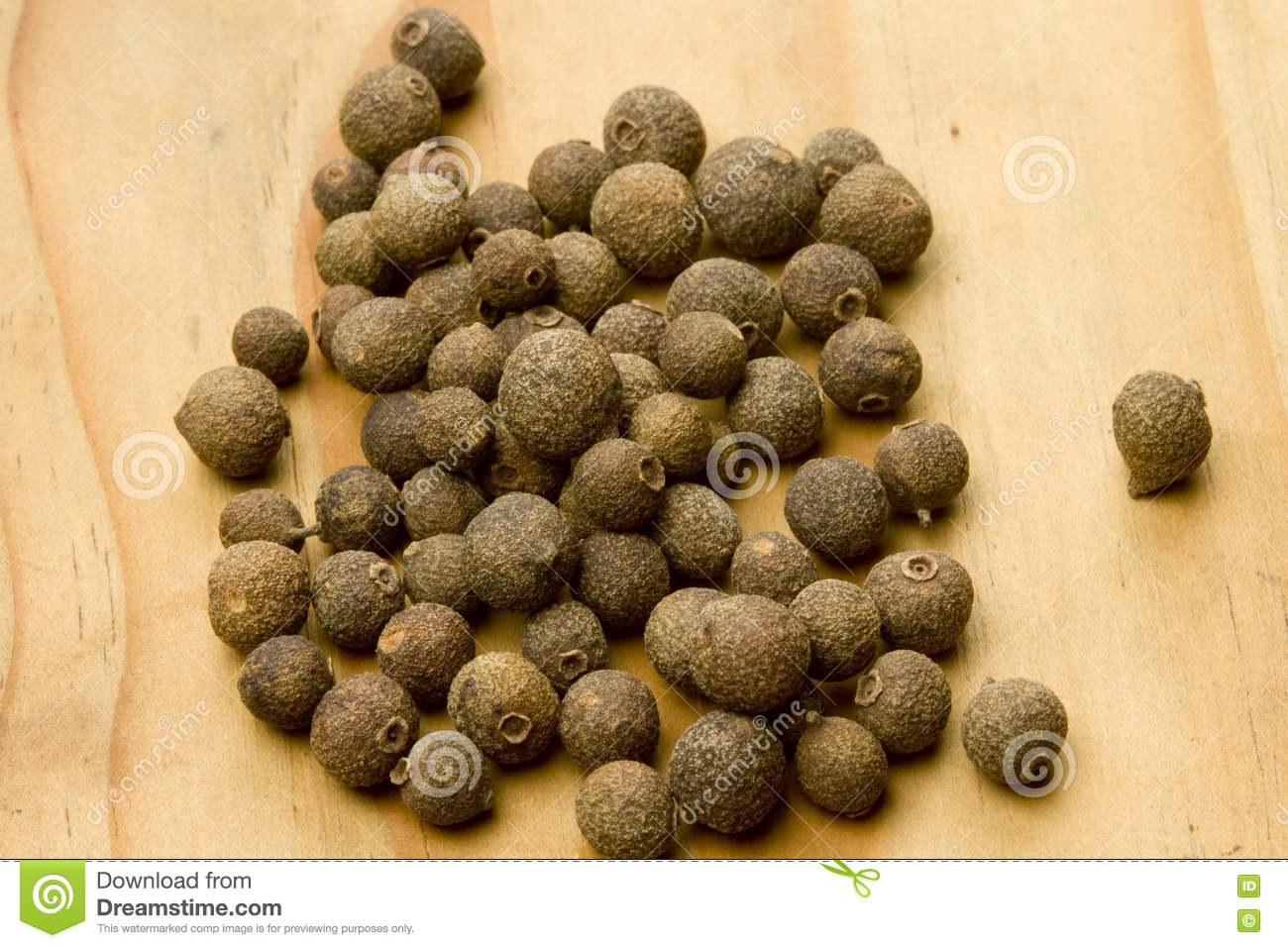 Allspice Pimenta Dioica Dried Berry Fruit Stock Photo ...