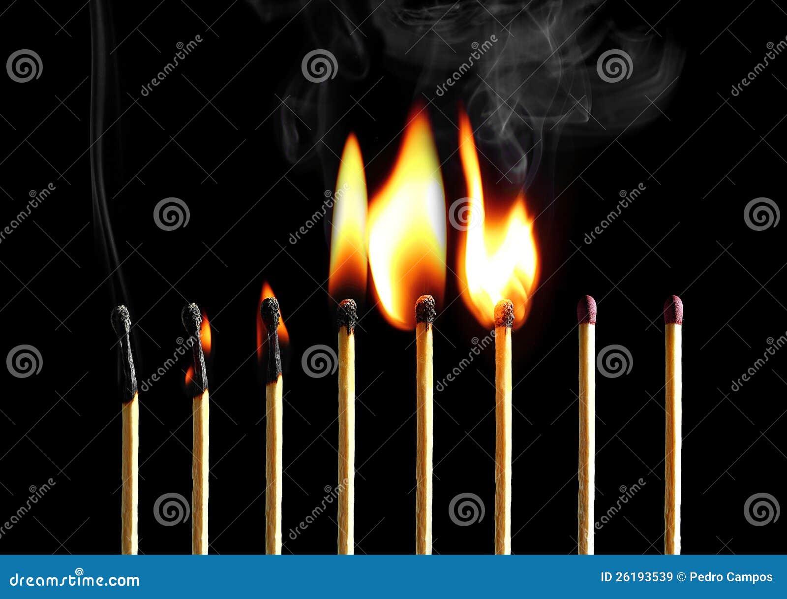 Allumettes brûlantes