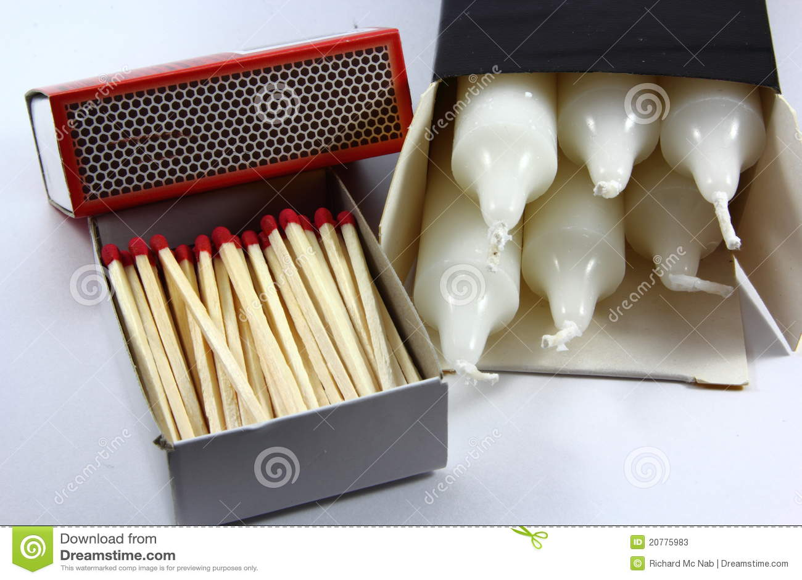 Allumettes et bougies