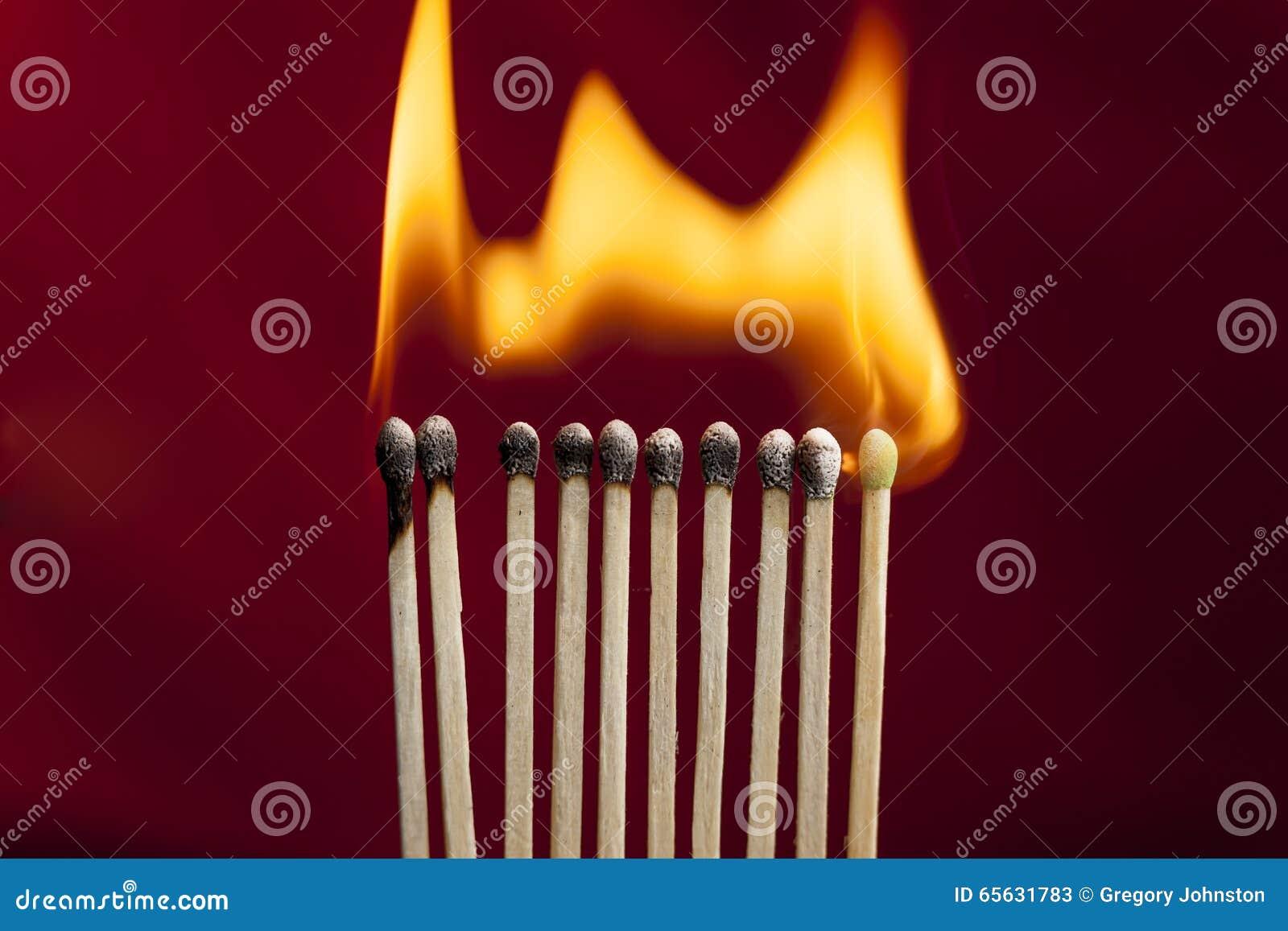 Allumettes sur le feu