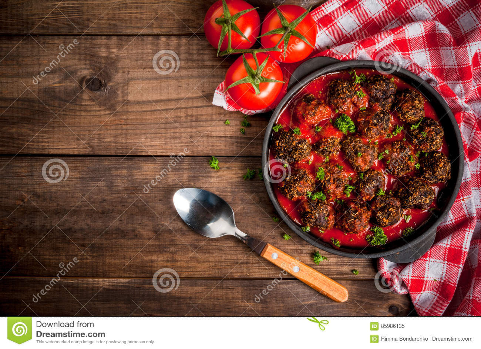 Almôndegas trituradas caseiros da carne