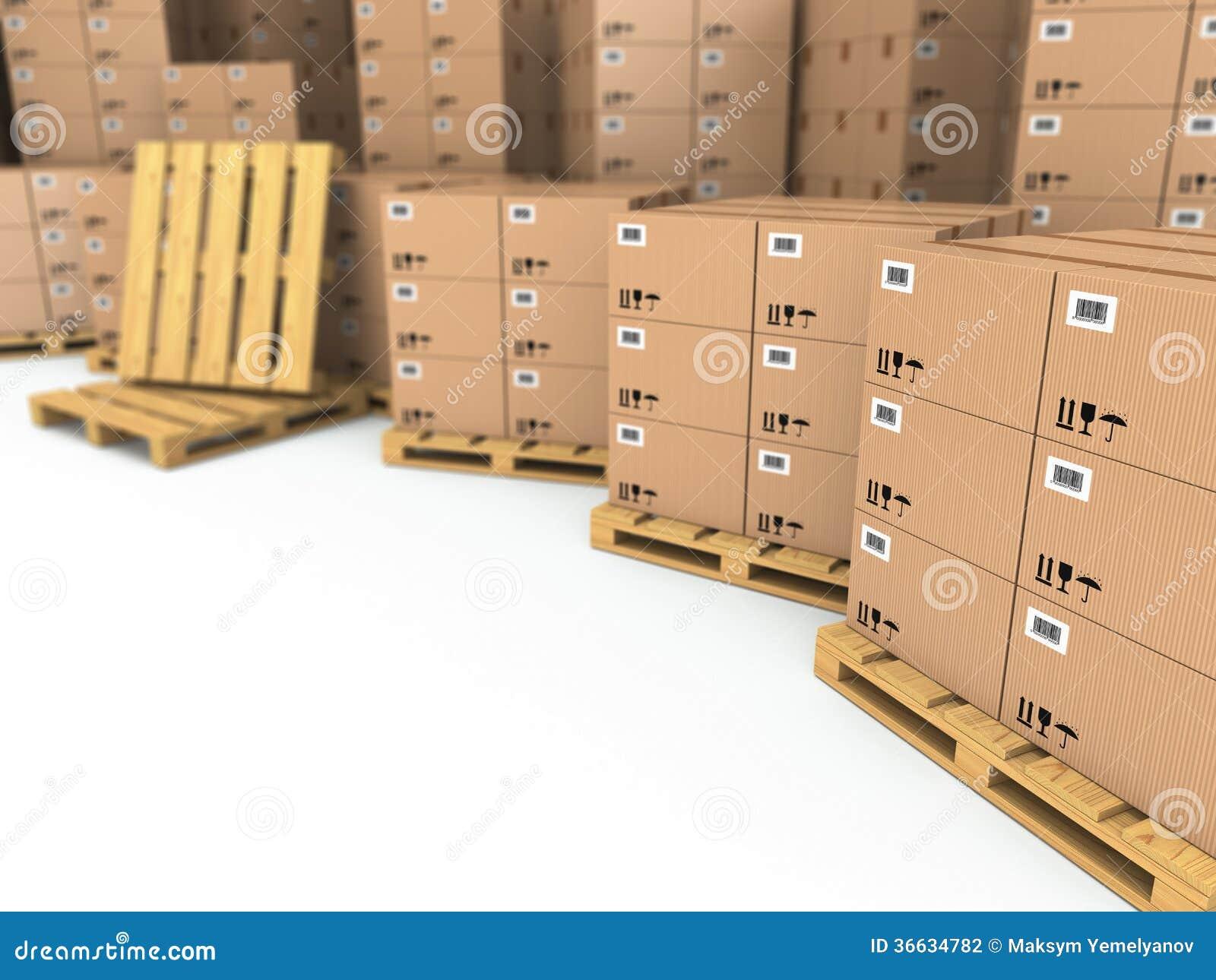 Almacenamiento cajas de cart n en la plataforma for Cajas almacenamiento ikea
