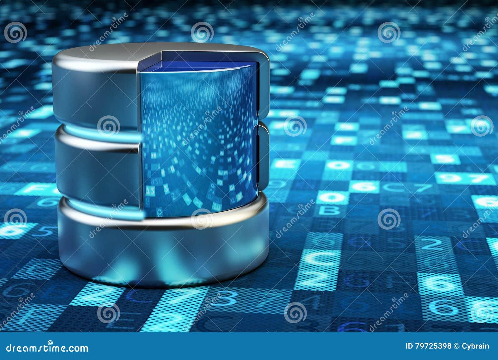 Almacenamiento de datos remotos, computación de la nube, servidor de datos de la red y concepto de la informática