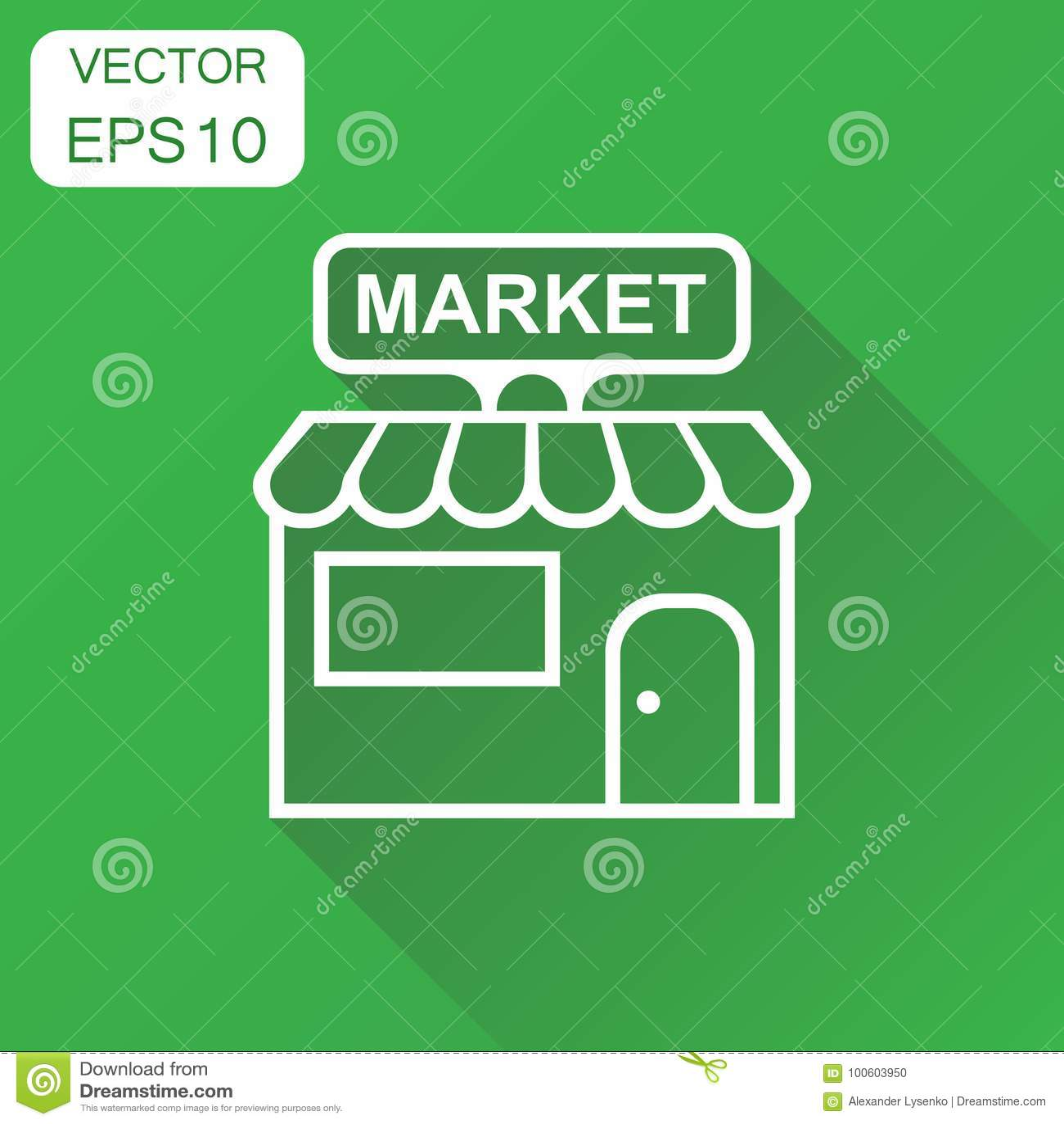Almacene El Icono Del Mercado Pictograma De La Estructura De