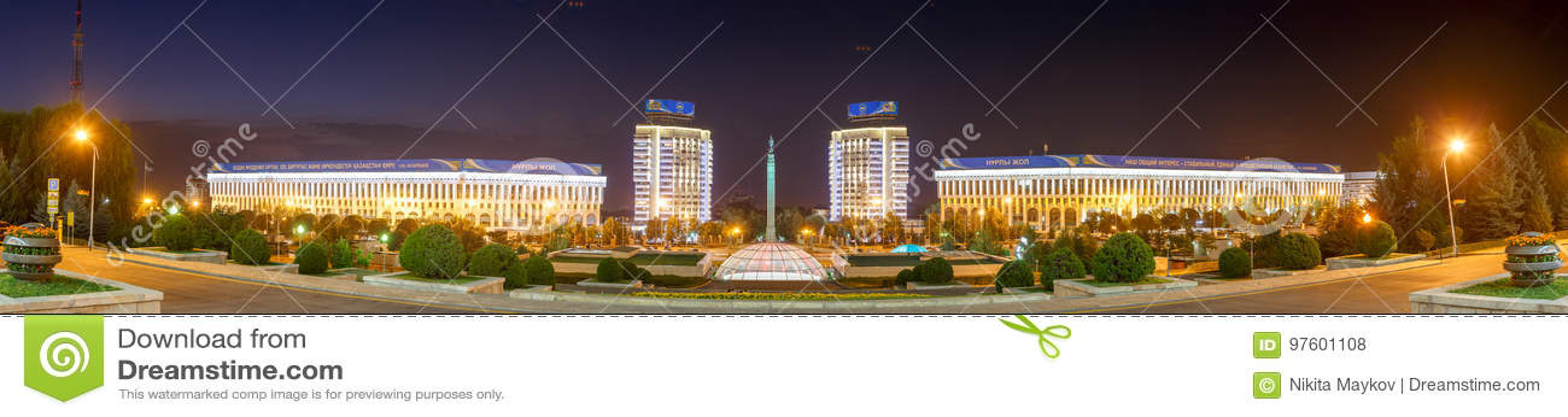Almaty, Cazaquistão - 29 de agosto de 2016: Independência do ` s de Cazaquistão