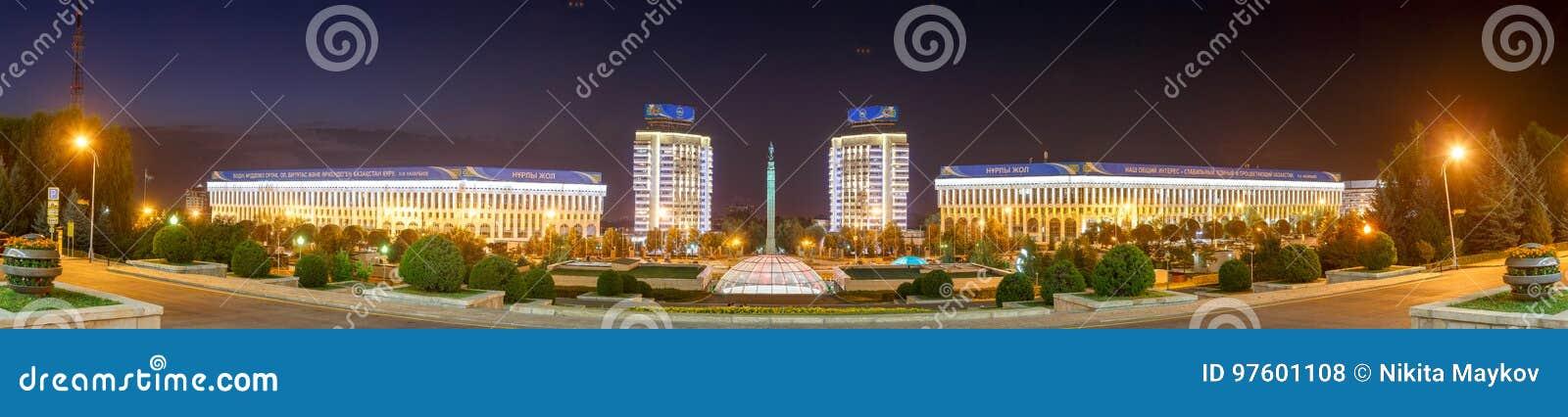 Almaty Kasakhstan - Augusti 29, 2016: Självständighet för Kasakhstan ` s