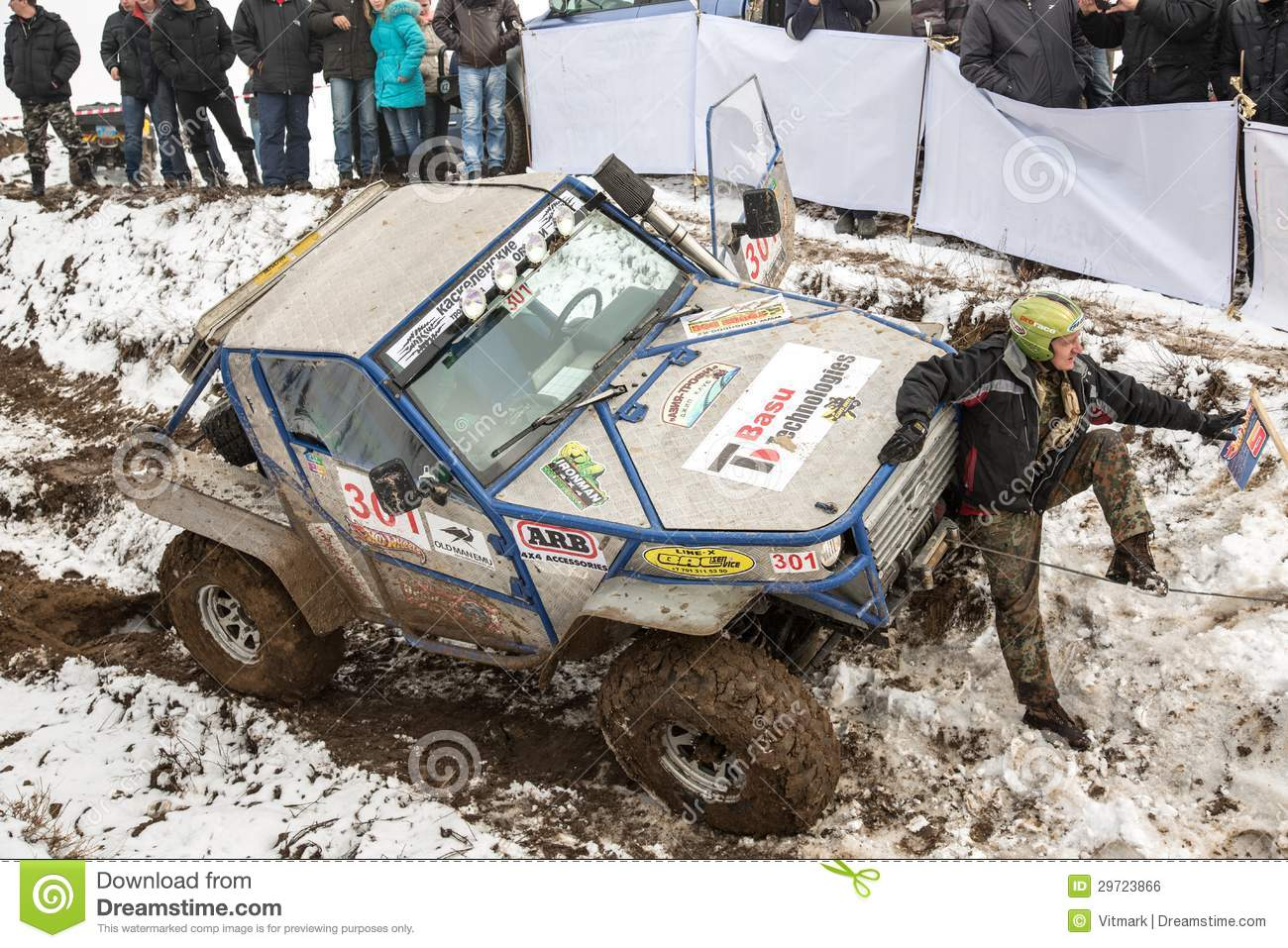 Almaty Kazakhstan February Off Road Racing On Jeeps