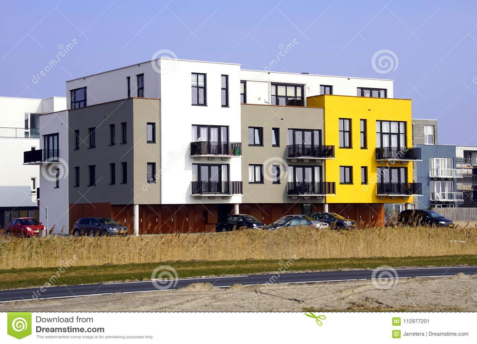 Modern apartment building, Almere Poort.