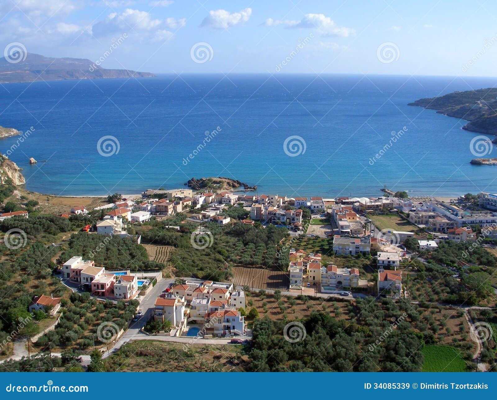 Almirida - Plaka strand, Chania, Kreta, Grekland