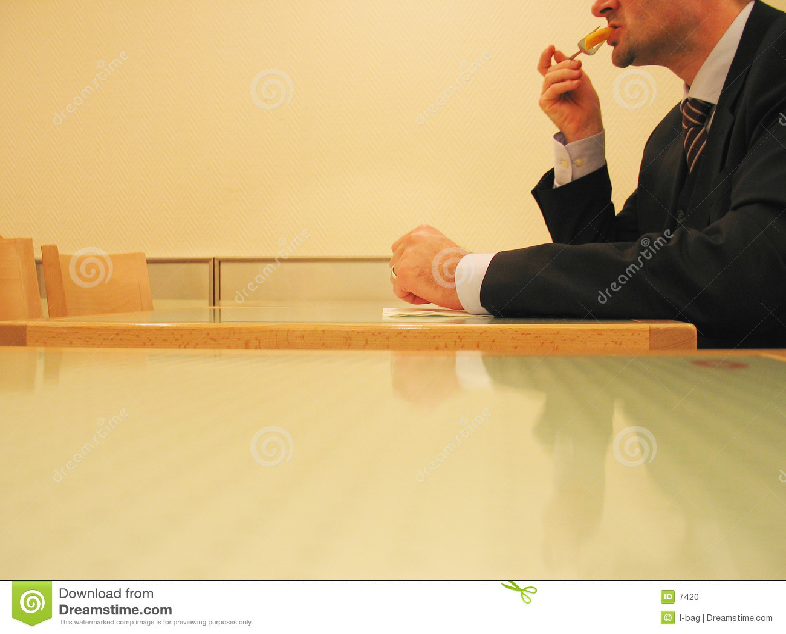 Almoço de negócio rápido