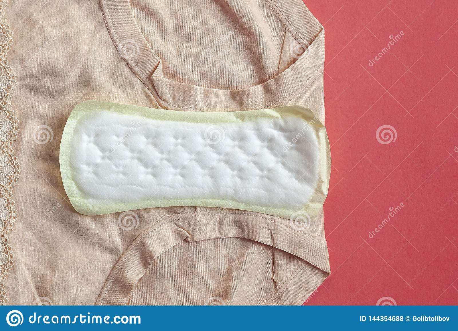 Almofadas sanitárias da menstruação para a proteção da higiene da mulher na manta em casa Proteção por dias críticos da mulher, g
