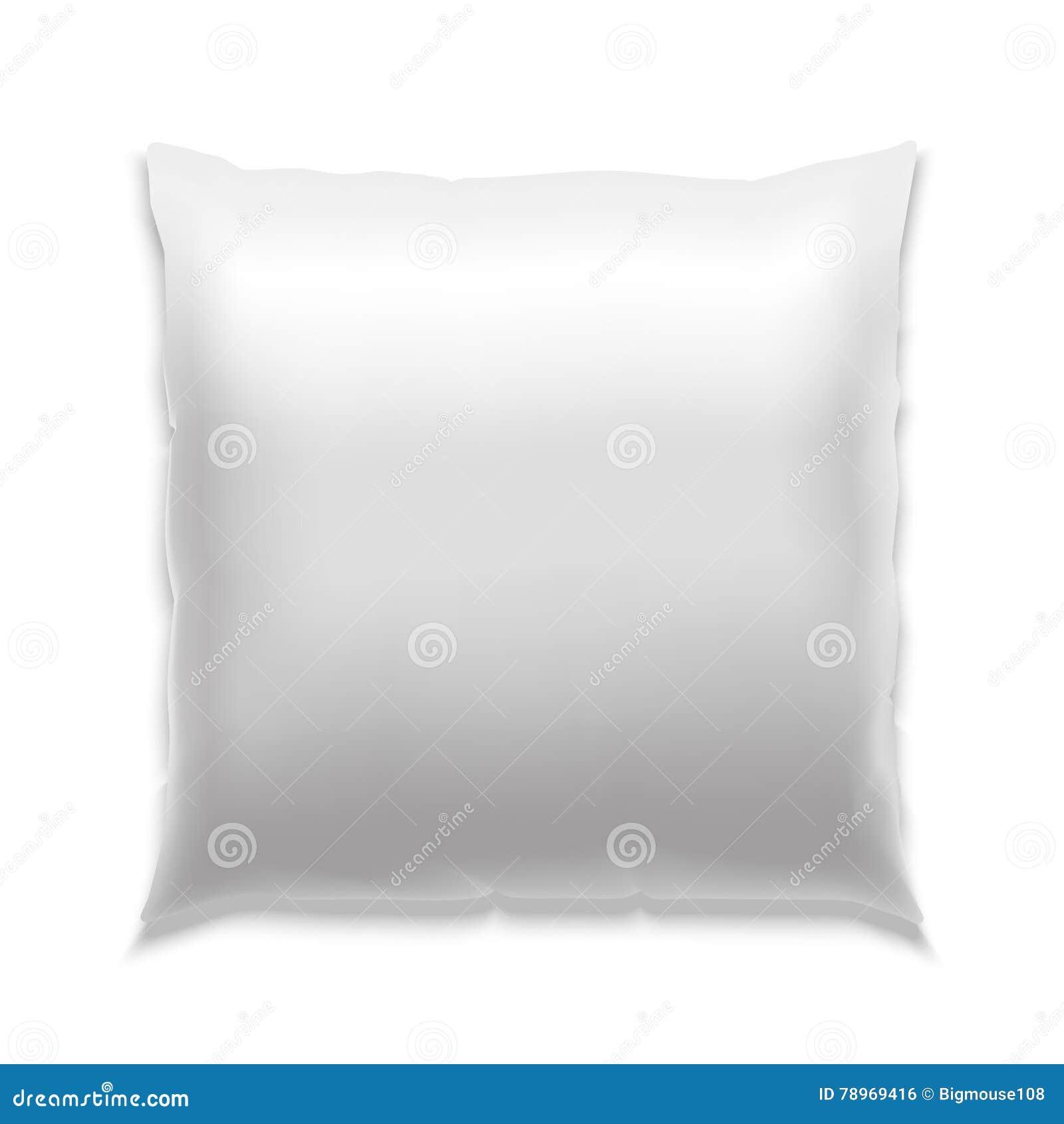 Almohada En Blanco Blanca De La Plantilla Vector Ilustración del ...