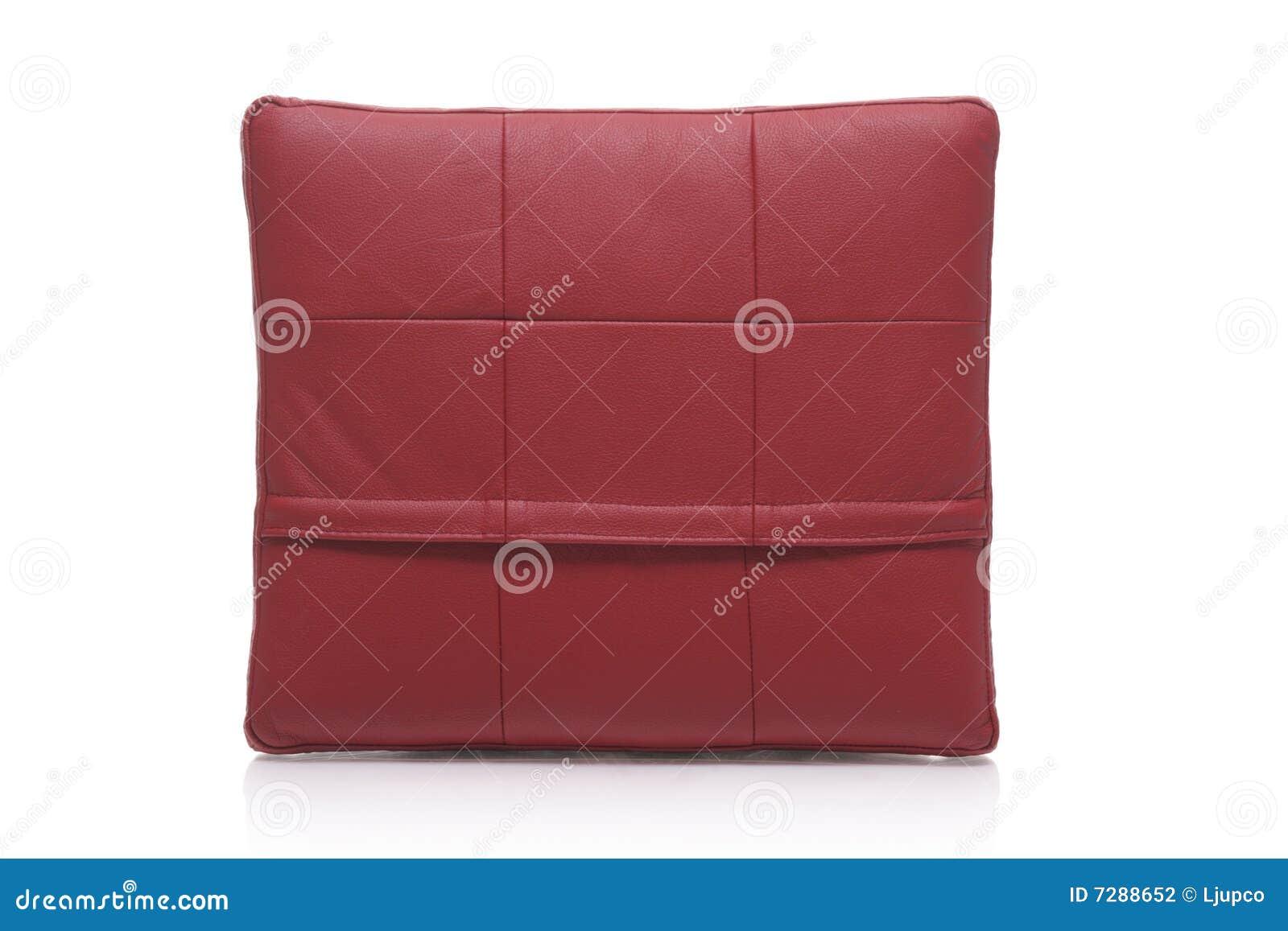 Almohadilla de cuero roja