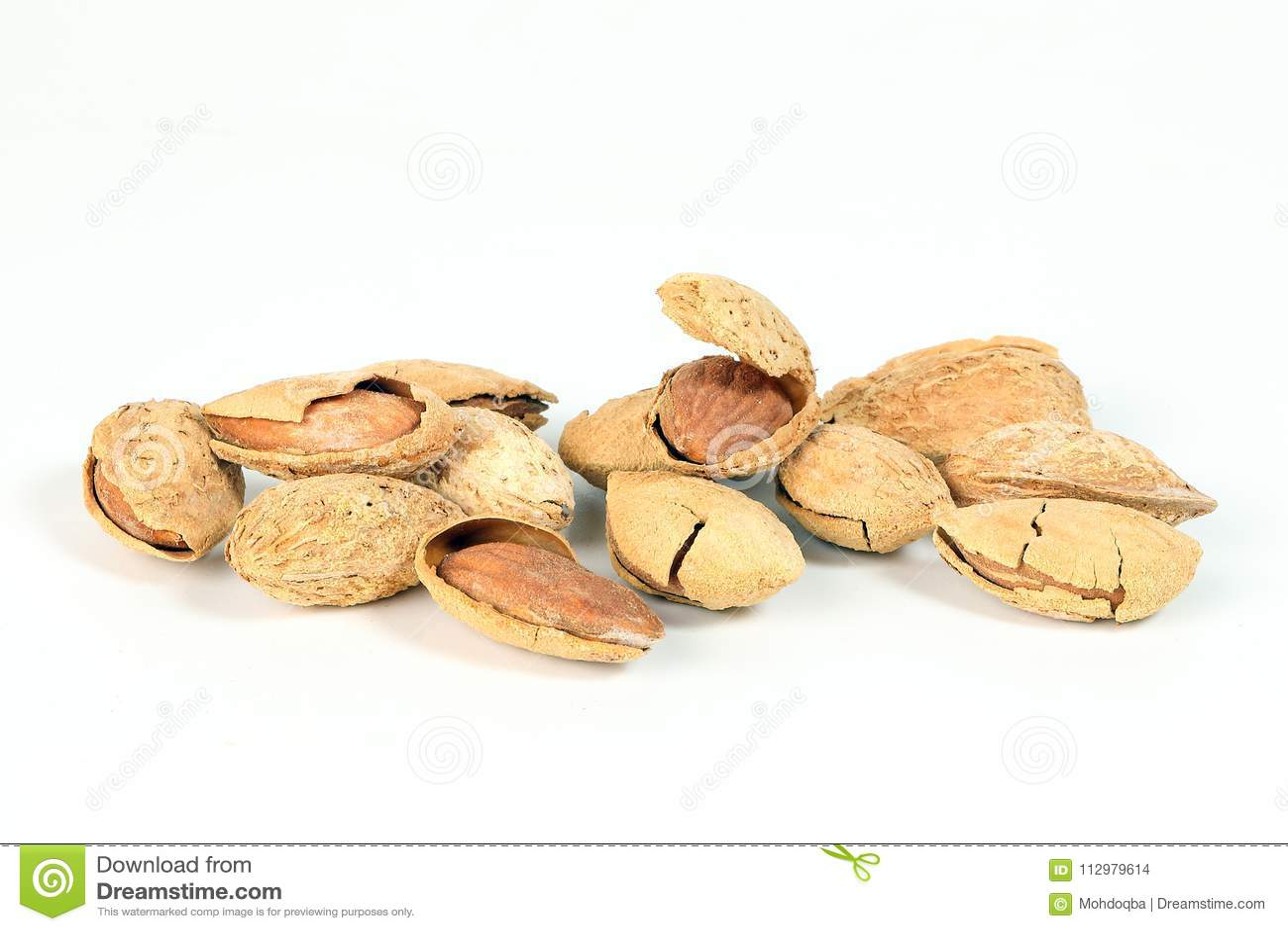 Almond nut in shell