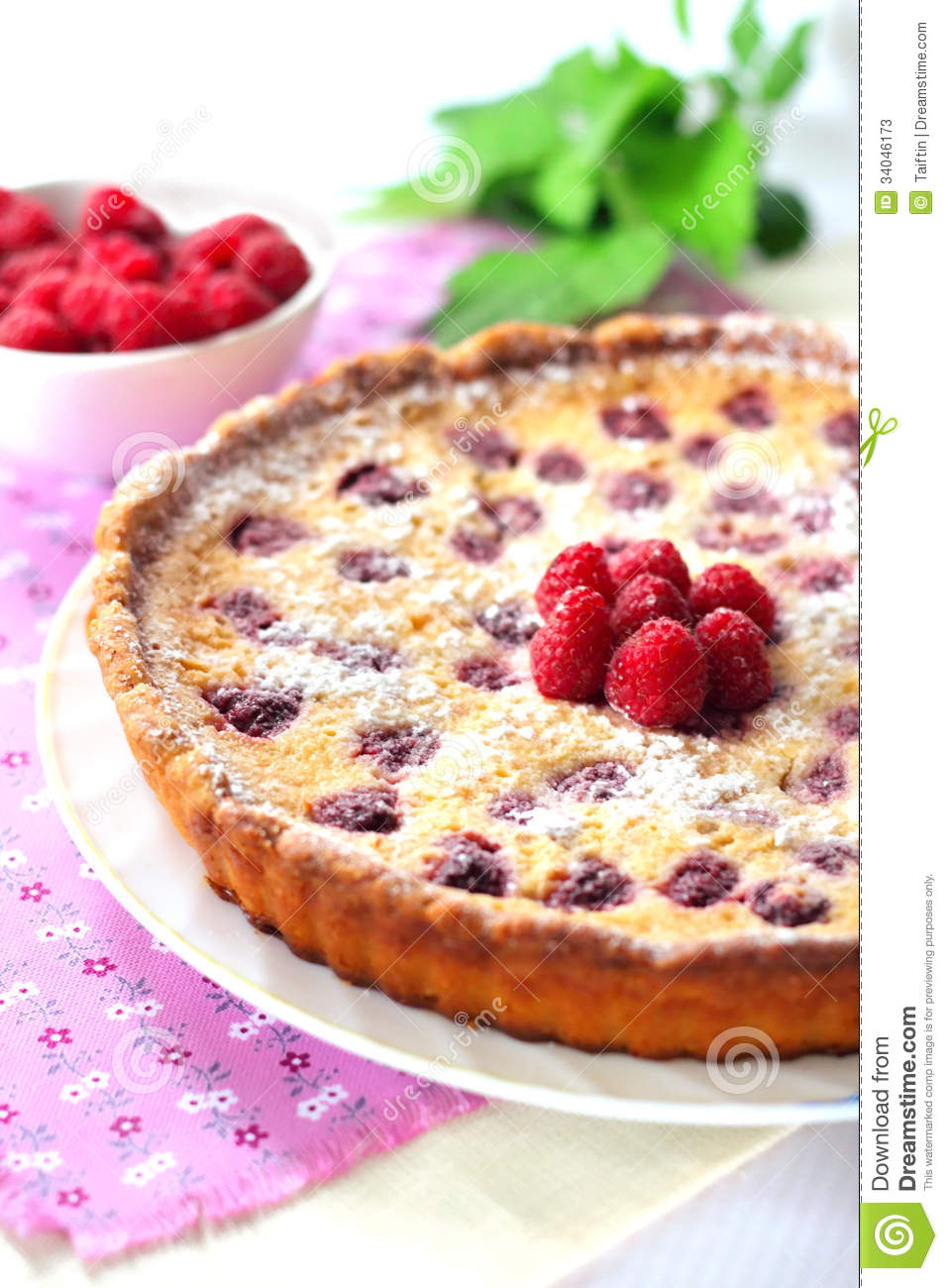 Download Almond Tart With Raspberries Stock Image - Image of tart, gastronomy: 34046173