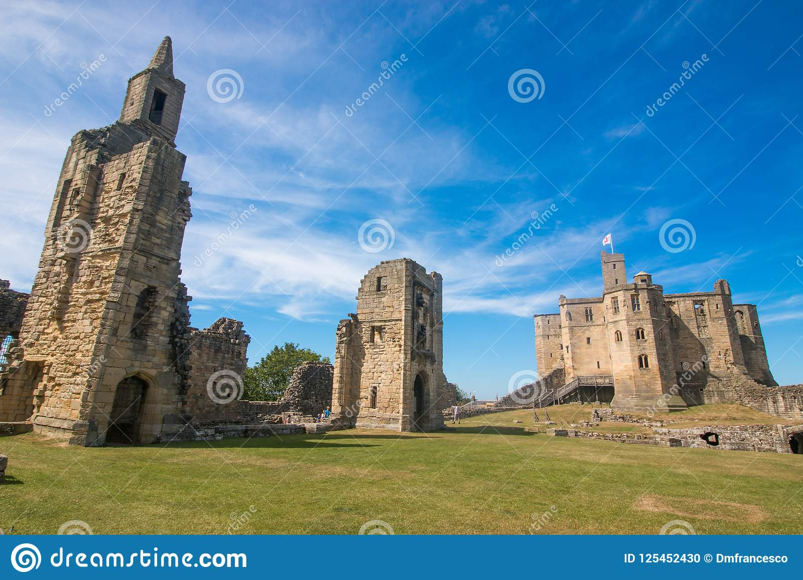 alnwick castle scotland united kingdom europe editorial image