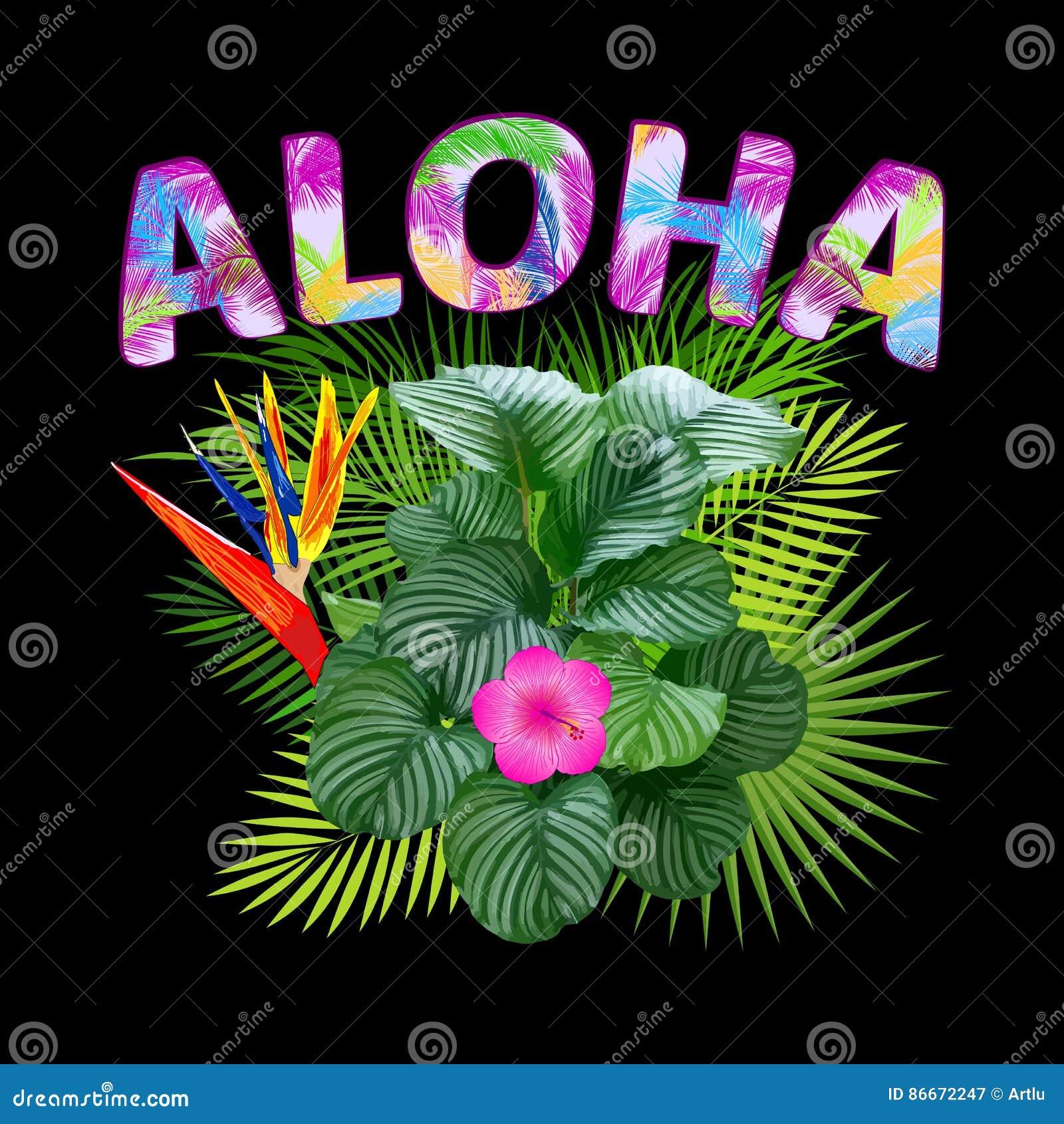T shirt design hawaii - Aloha Hawaii Aloha T Shirt Design