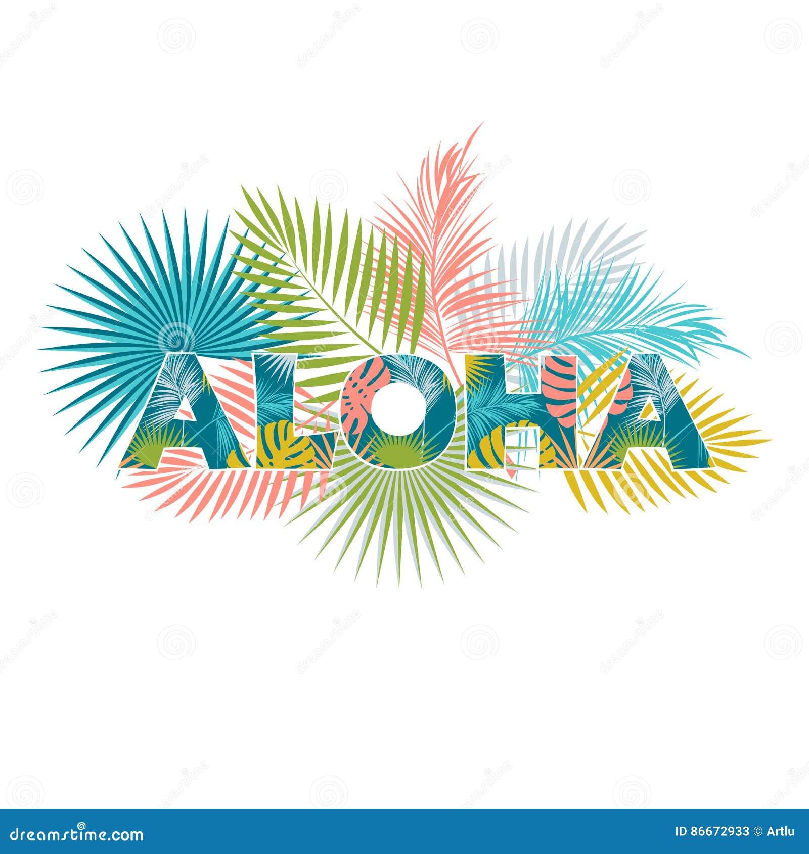 Aloha Hawaii T Shirt Design