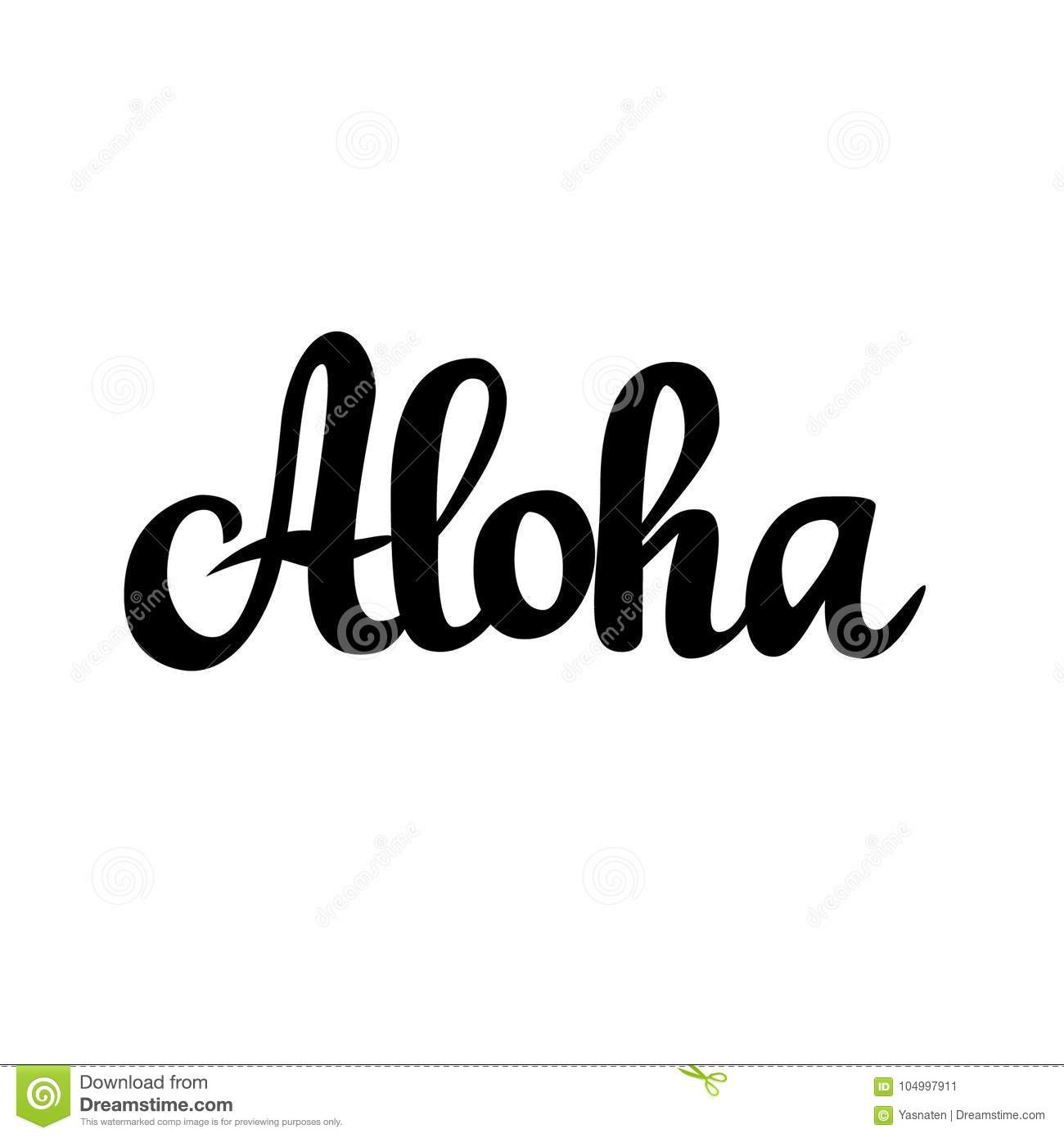 Aloha hawaiian greeting vector calligraphy design stock vector download aloha hawaiian greeting vector calligraphy design stock vector illustration of fashion sign m4hsunfo