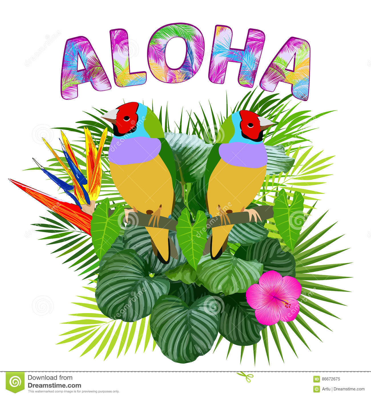 Aloha Hawaiian T Shirt Design
