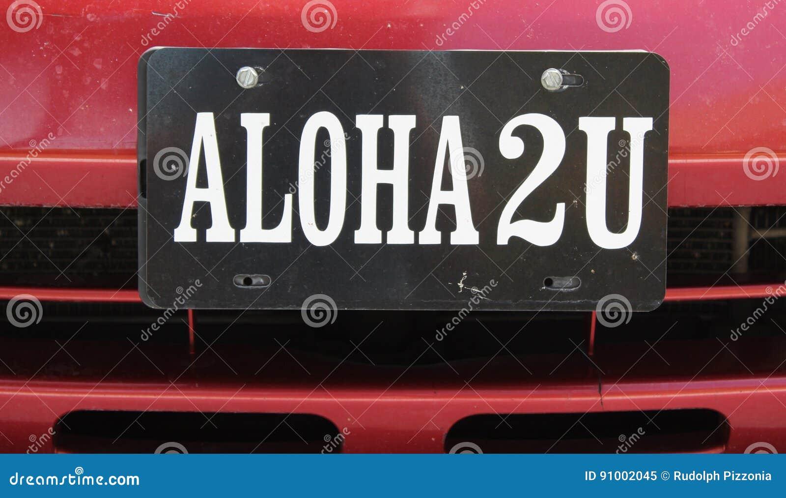 ALOHA,Hawaiian Word For Hello,goodbye,,peace & Love Stock