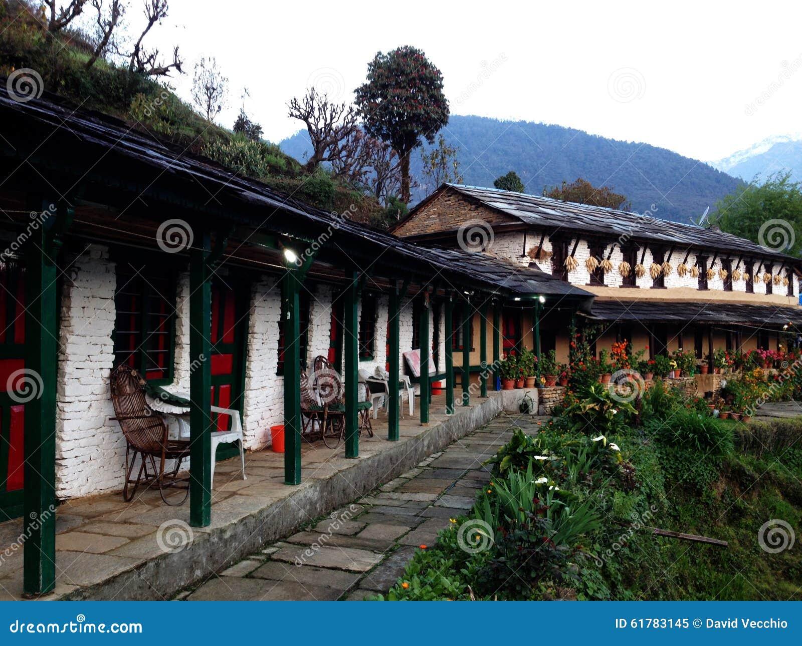 Alojamento nas montanhas de Nepal