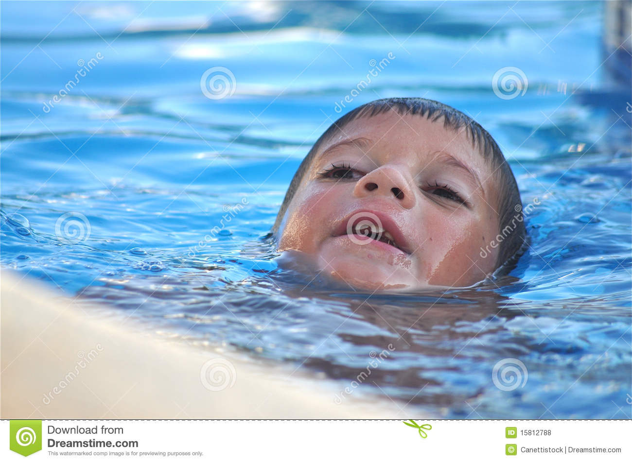Alone In The Swimming Pool Royalty Free Stock Photos Image 15812788