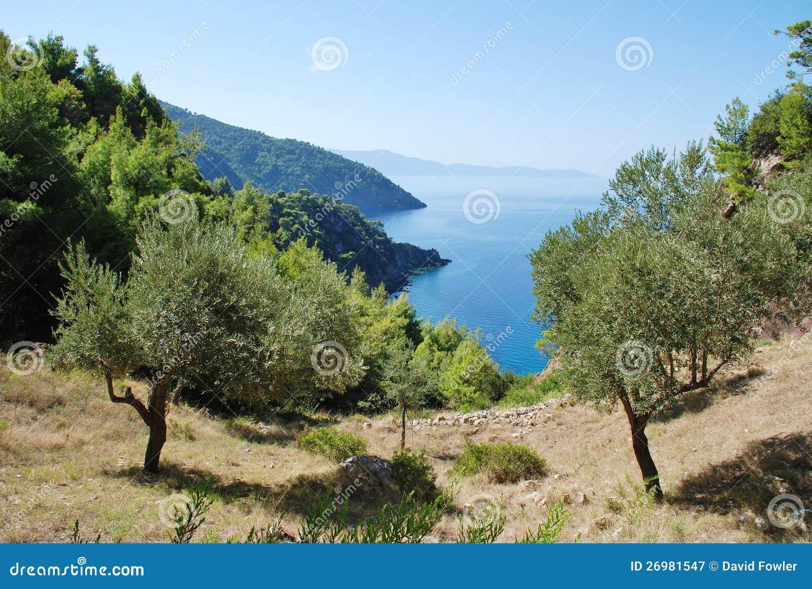 Alonissos Küstenlinie, Griechenland
