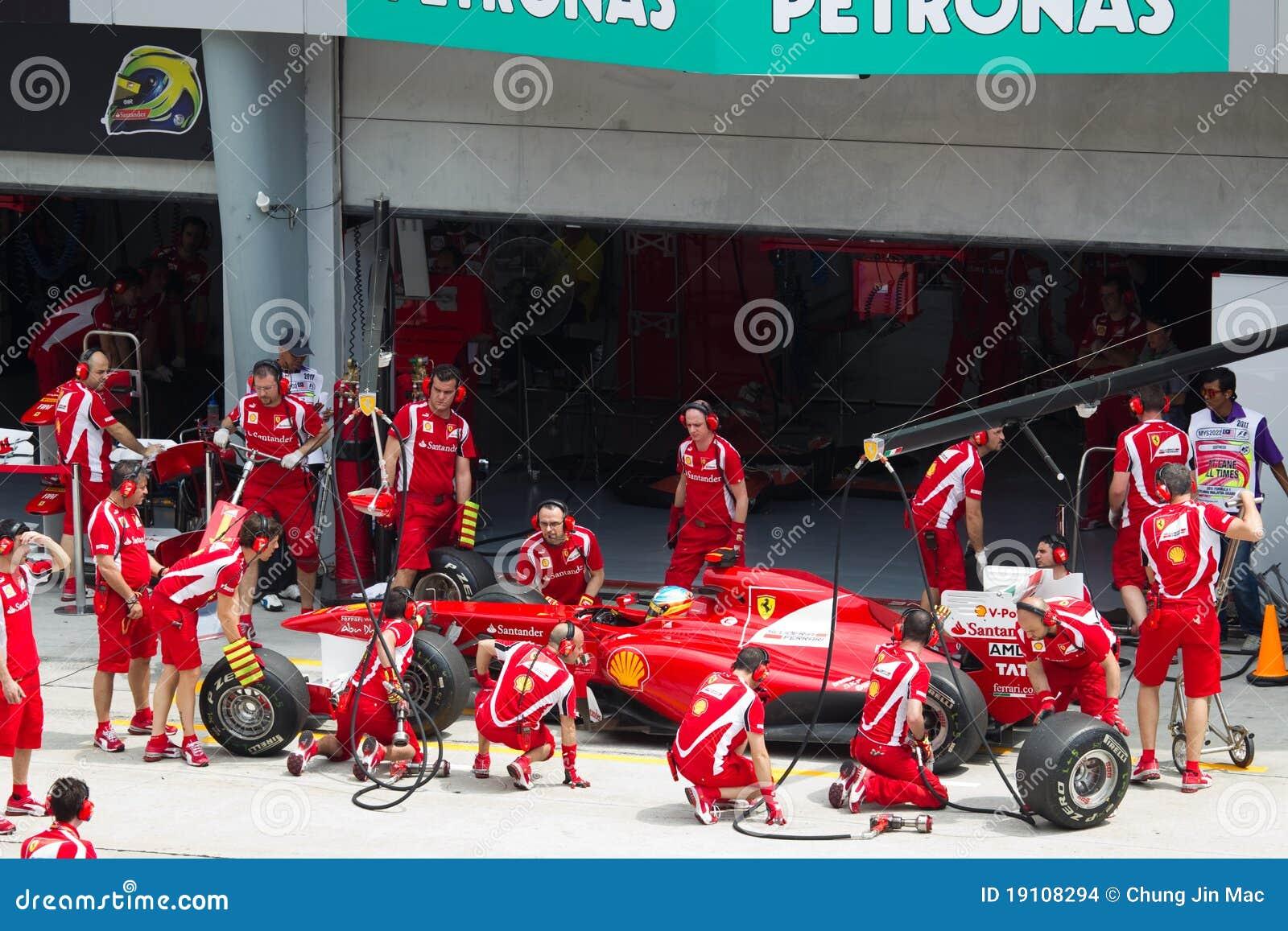 Alonso执行驱动器f1福纳多坑试算