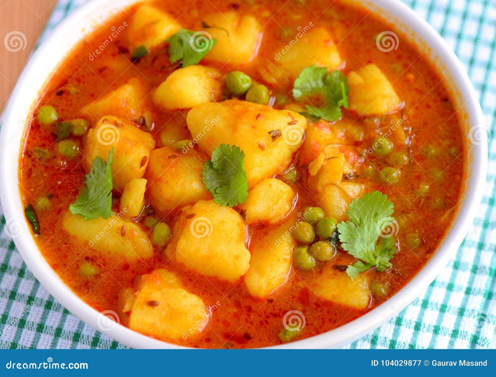 Aloo indien de plat principal matar