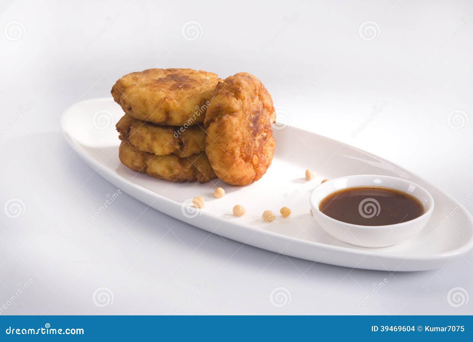 Aloo Tikki ou Fried Potato Balls ou Chaat