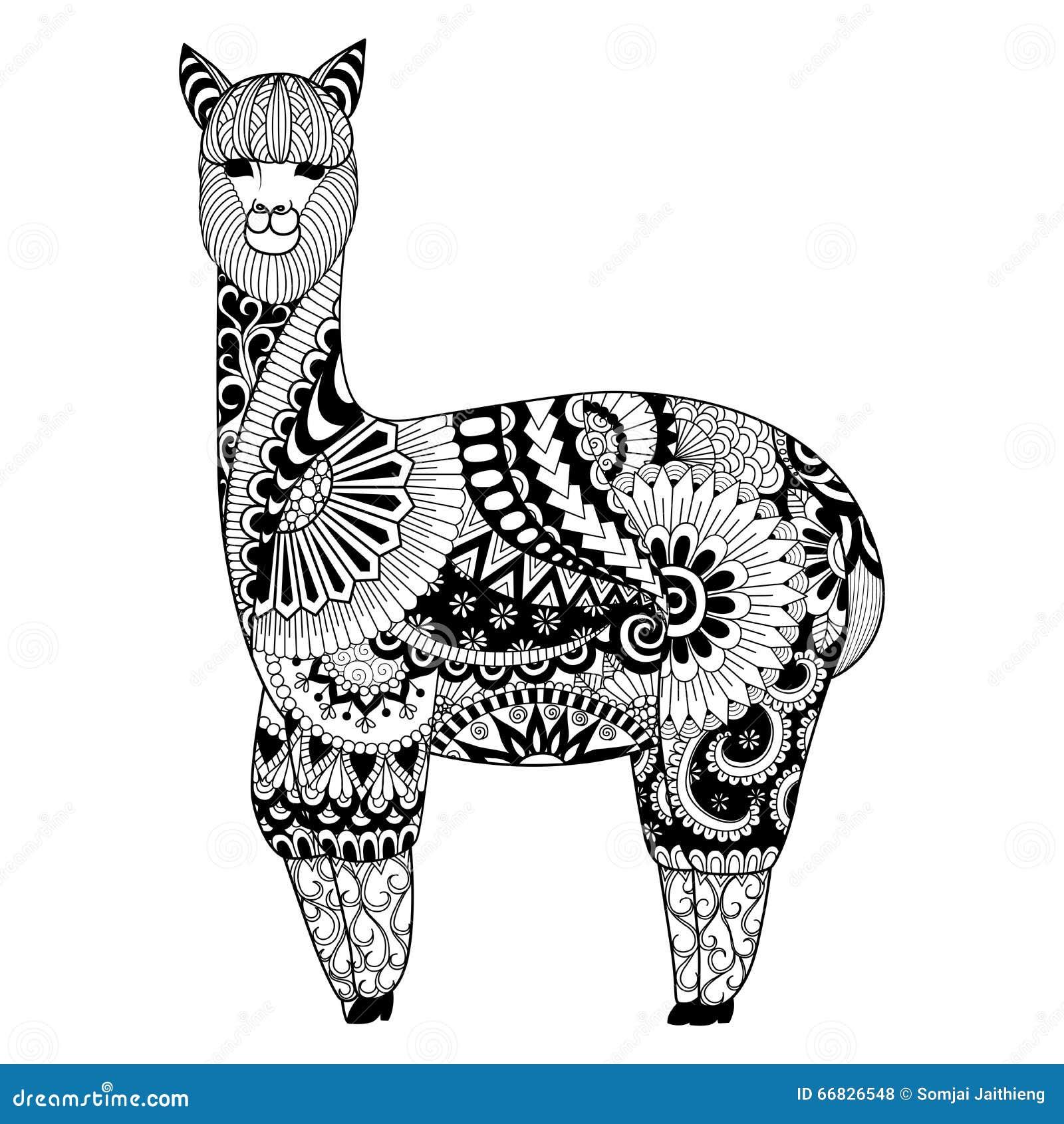 Shirt design book - Alpaca Zentangle Design For Coloring Book For Adult Logo T Shirt Design And So