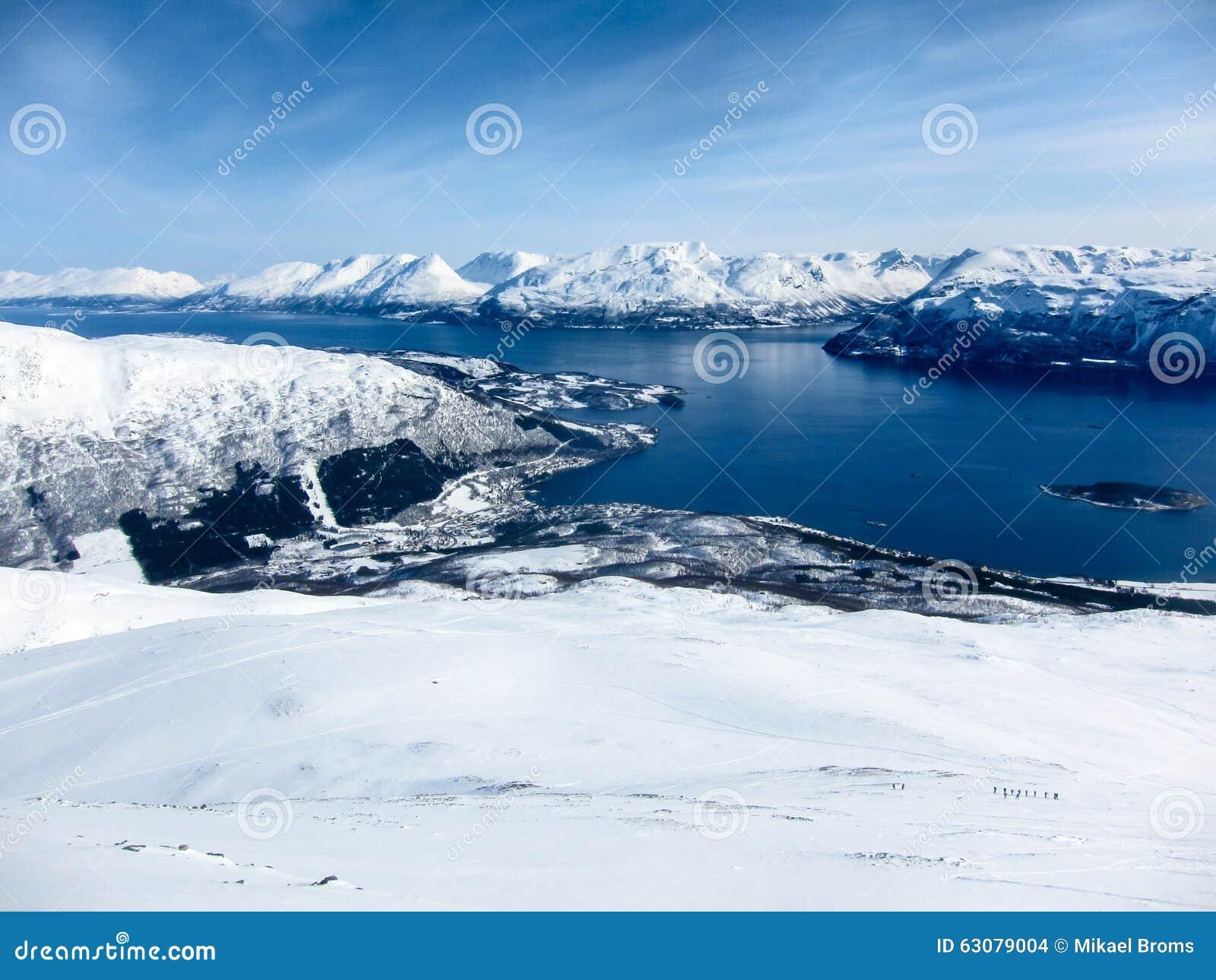 Download Alpes De Lyngen Et Fjords, Norvège Photo stock - Image du saison, majestueux: 63079004