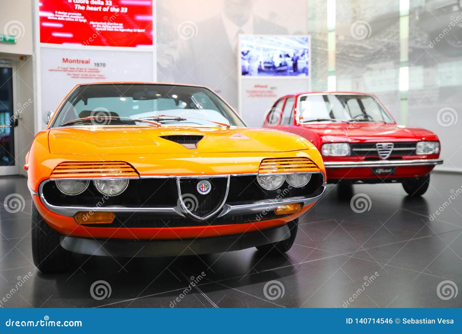 Alpha Romeo Alfasud, modèles de Montréal sur l affichage au musée historique Alfa Romeo