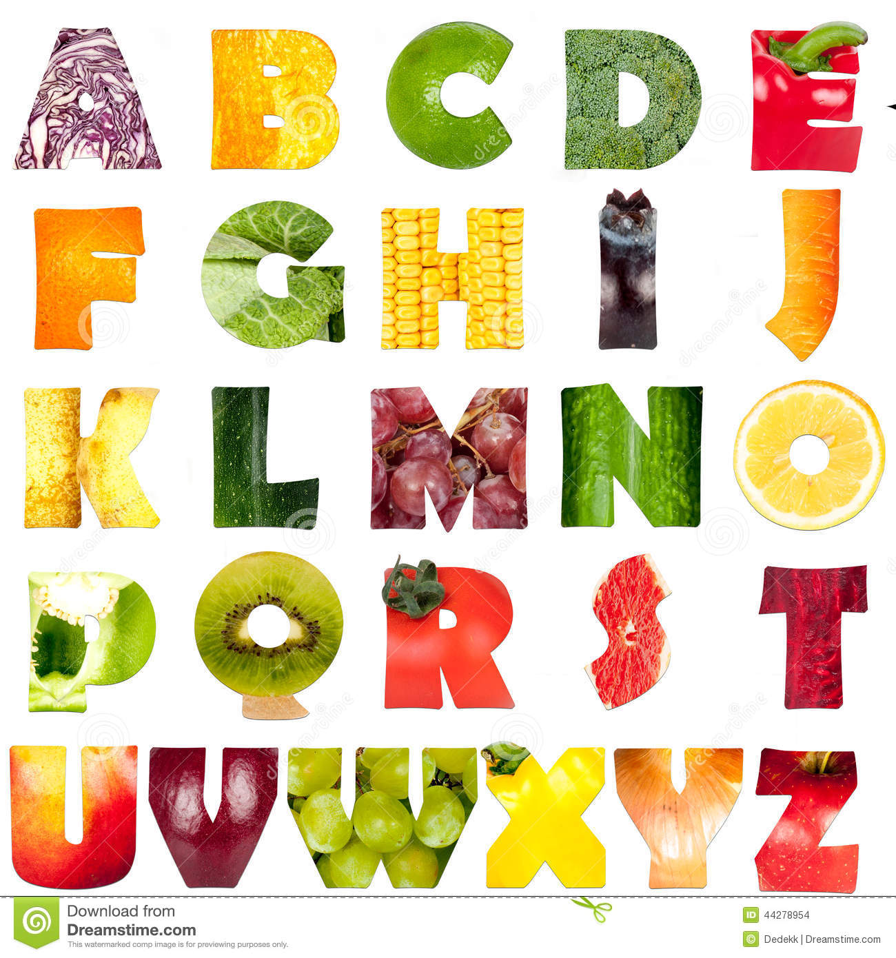 Peach Like Fruit  Letters