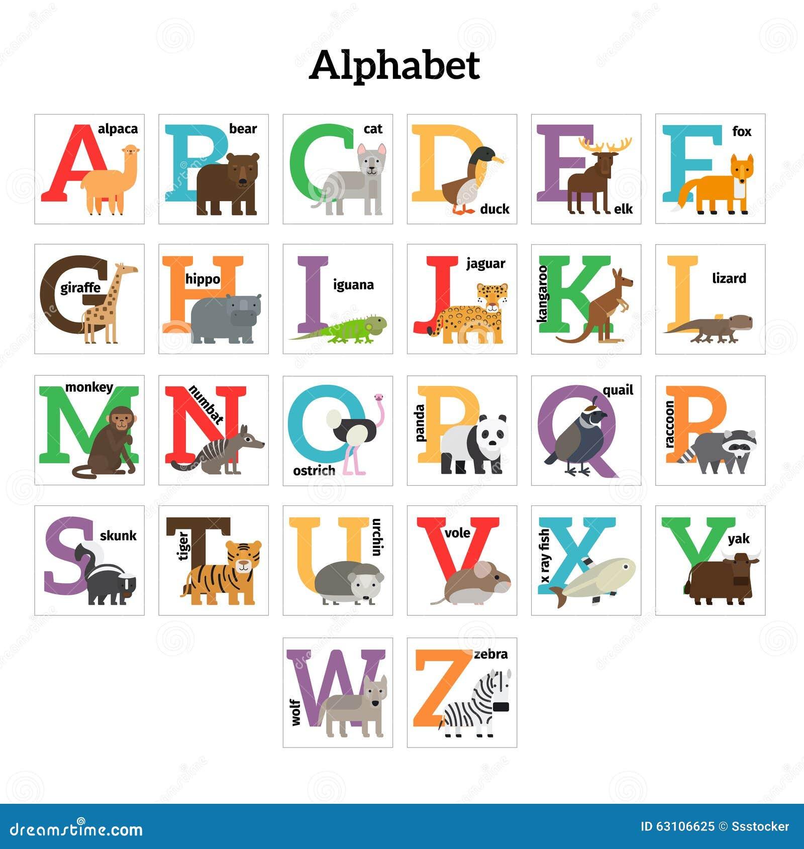 Zoo Alphabet Letters
