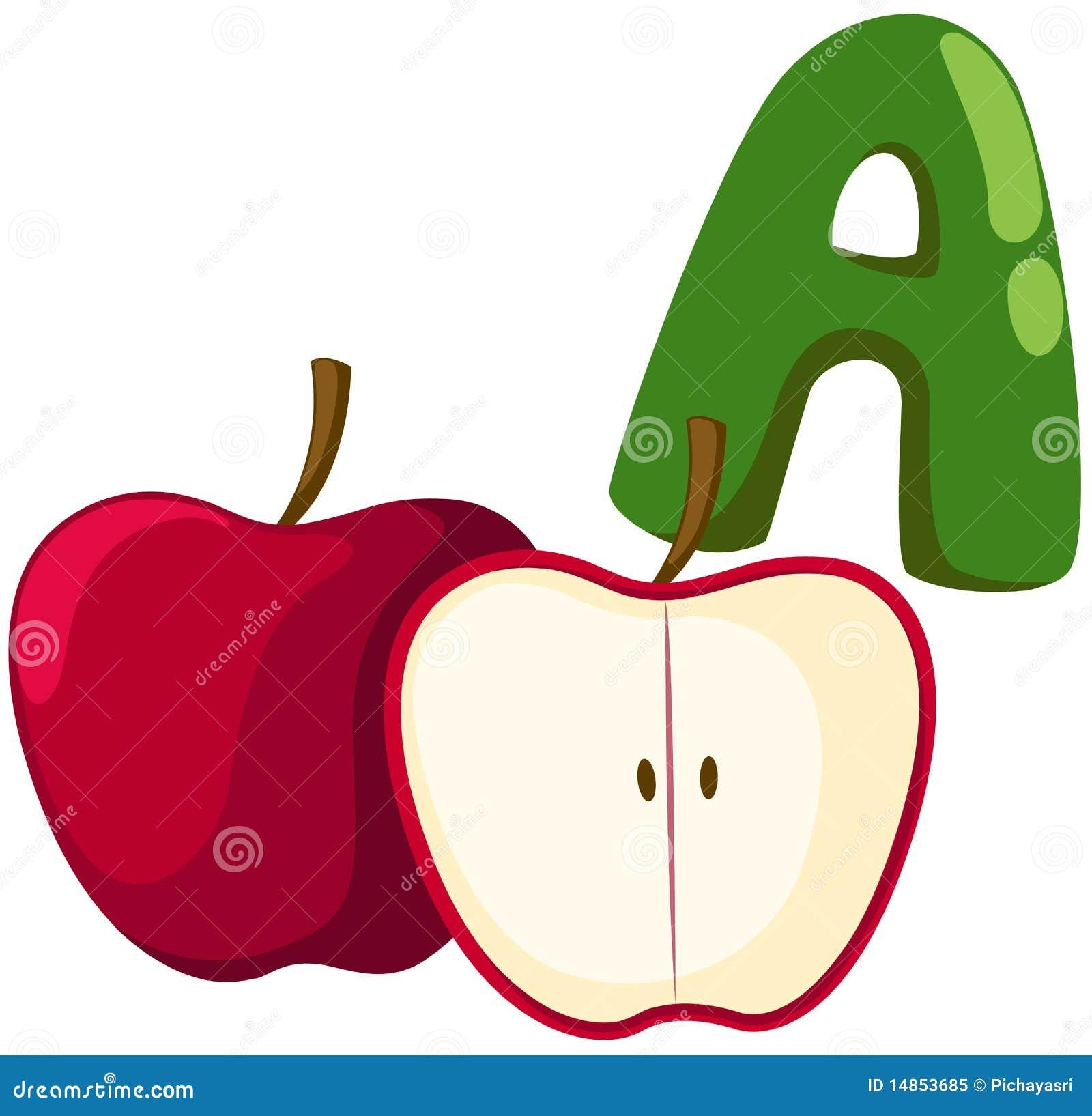 alphabet a for apple stock vector illustration of illustration